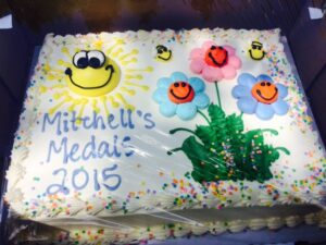 Mitchells' Medals Cake